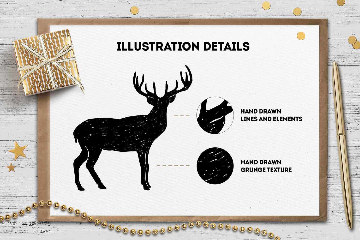 Print on Demand: Hand Drawn Winter Collection Graphic Illustrations By Cosmic Store - Image 2