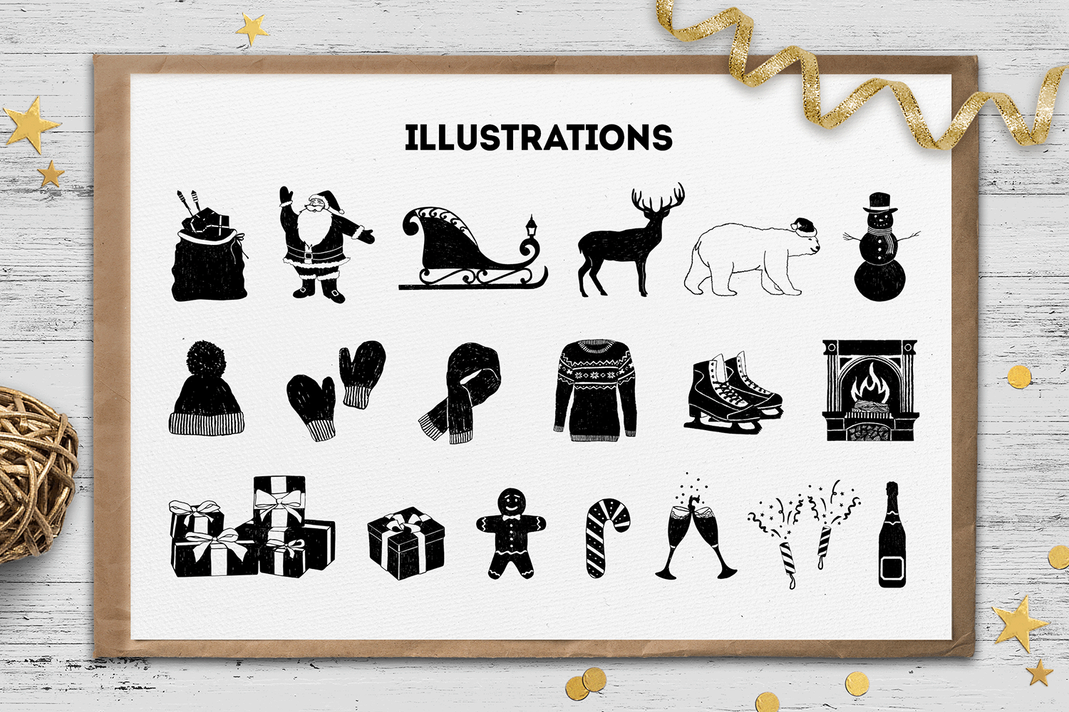 Print on Demand: Hand Drawn Winter Collection Graphic Illustrations By Cosmic Store - Image 3