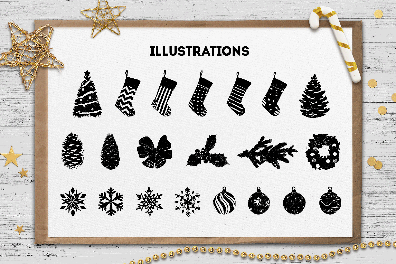 Print on Demand: Hand Drawn Winter Collection Graphic Illustrations By Cosmic Store - Image 4