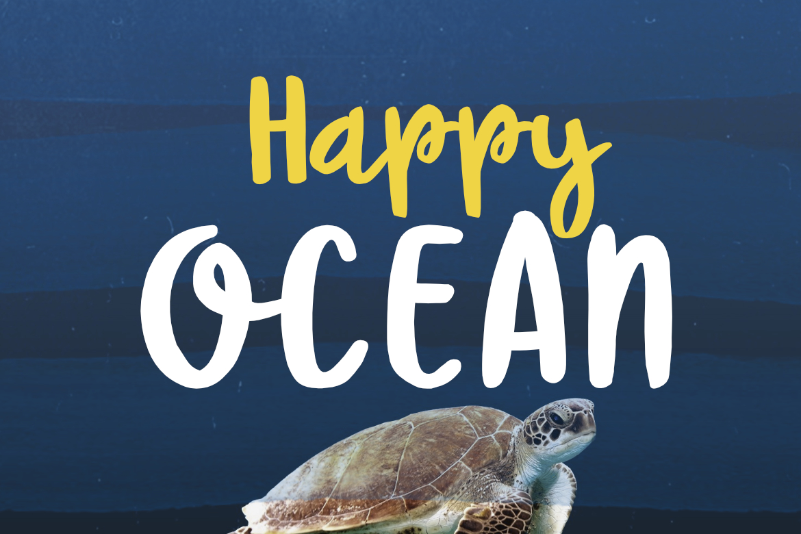 Print on Demand: Happy Ocean Script & Handwritten Font By LebahStudio