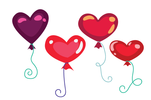 Heart Shaped Balloons Love Craft Cut File By Creative Fabrica Crafts