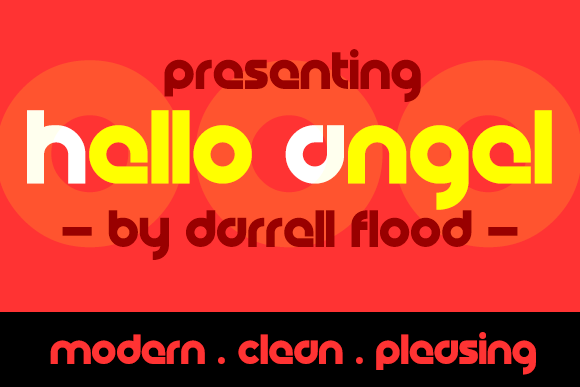 Print on Demand: Hello Angel Display Font By Dadiomouse