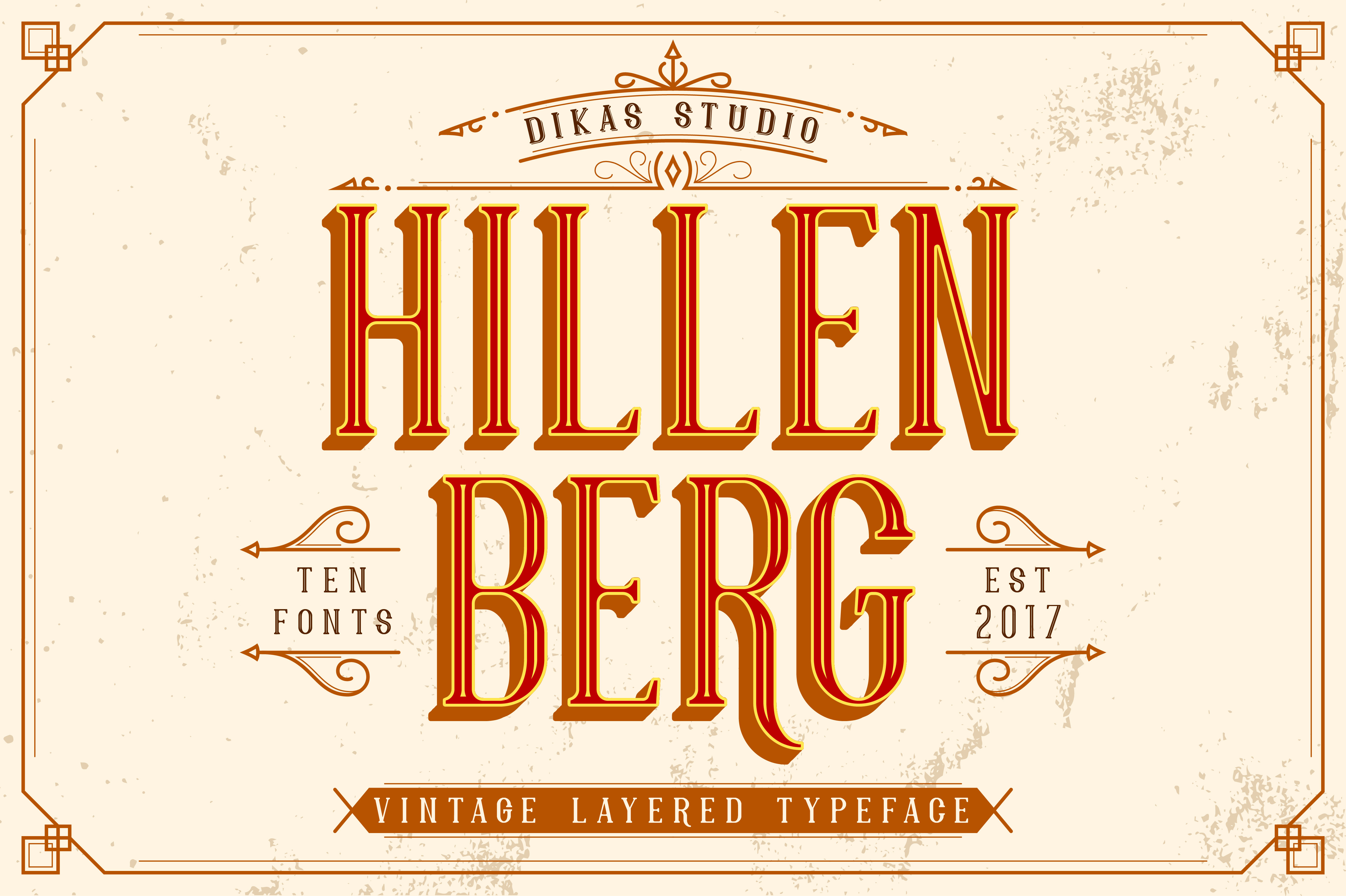Print on Demand: Hillenberg Display Font By Dikas Studio