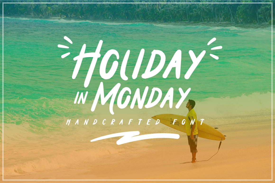 Print on Demand: Holiday in Monday Sans Serif Font By Dikas Studio