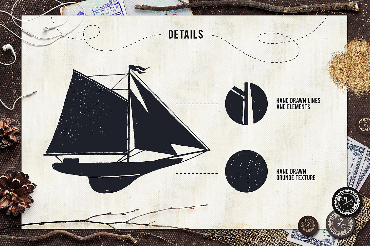 Print on Demand: I Love Travelling Set Graphic Objects By Cosmic Store - Image 4