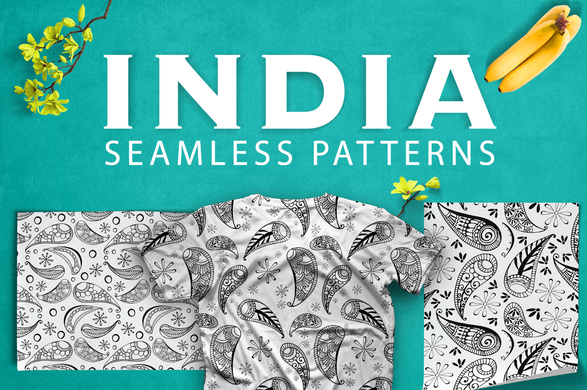 Print on Demand: INDIA | Seamless Patterns and Sign Graphic Patterns By Gennadii ART