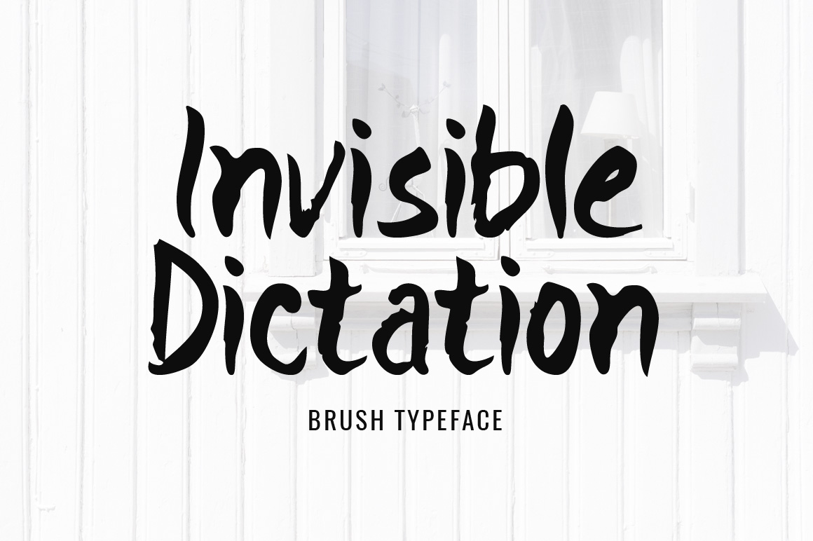 Print on Demand: Invisible Dictation Display Font By Contour Fonts