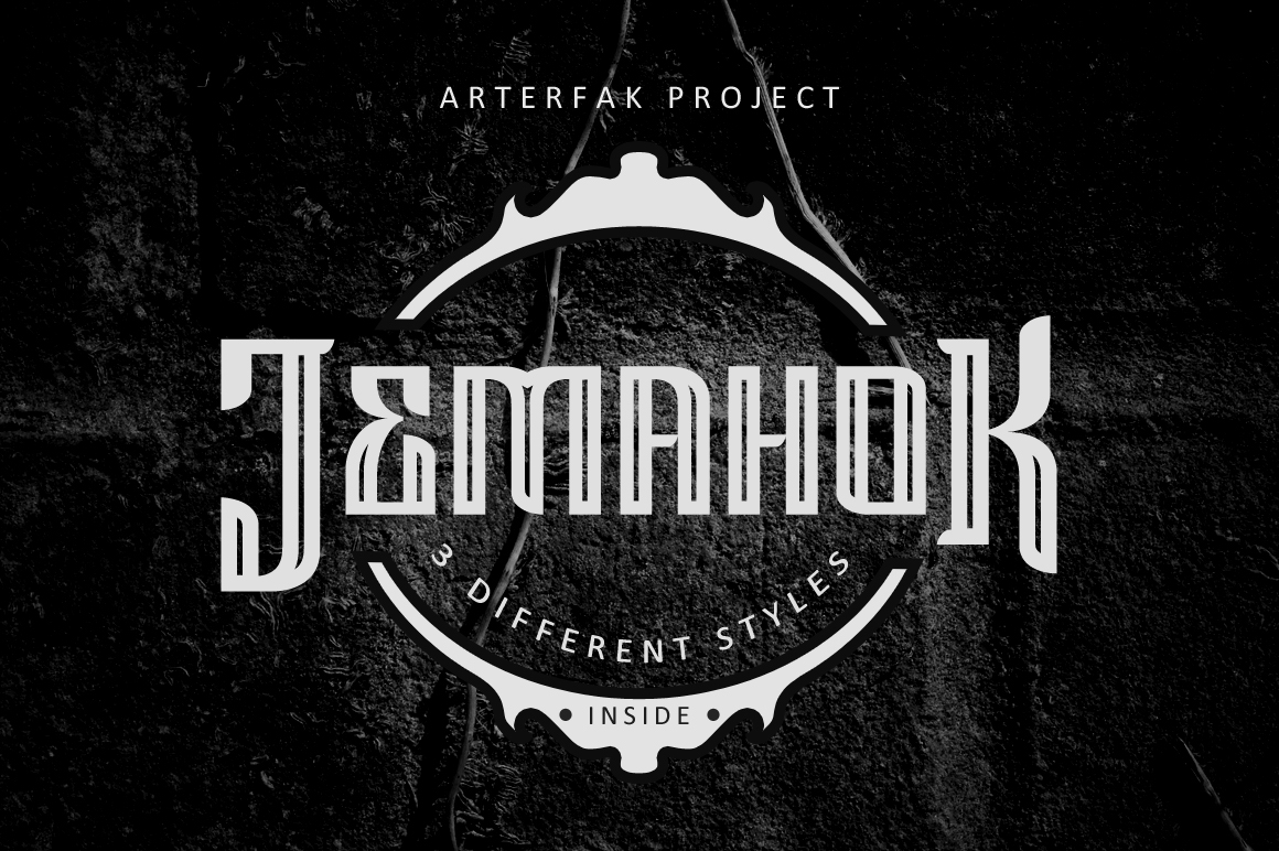 Print on Demand: Jemahok Display Font By Arterfak Project