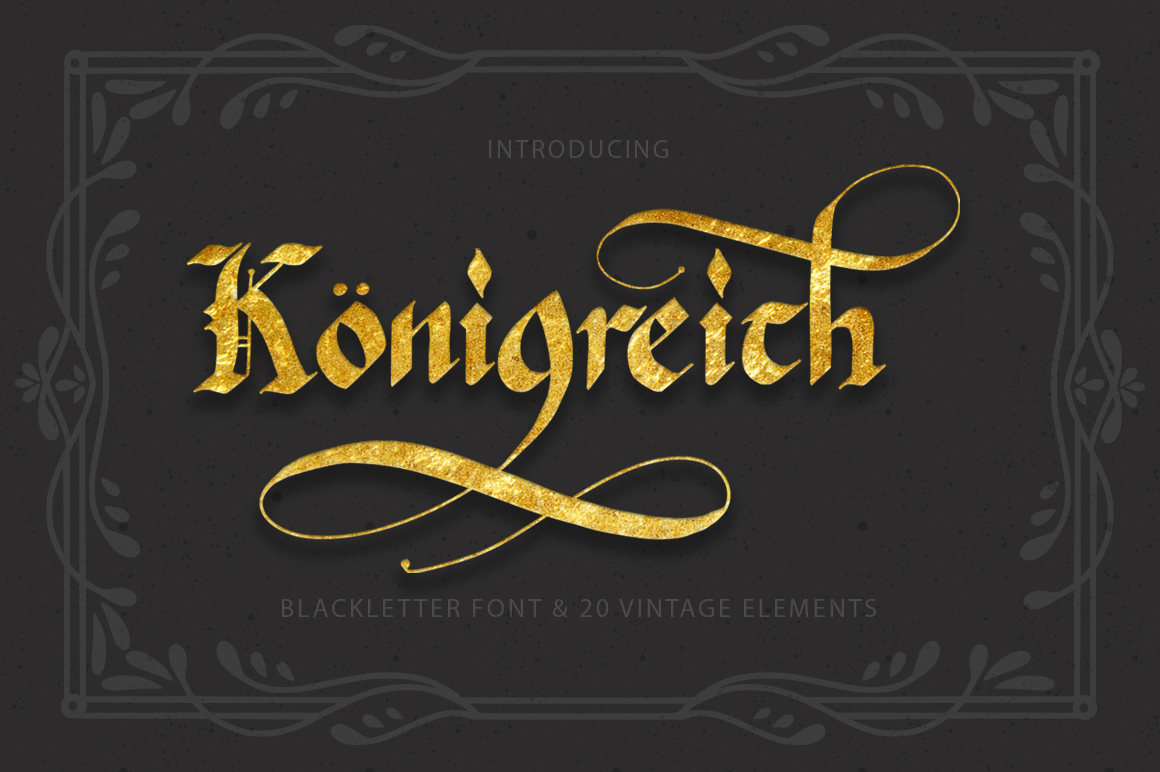 Print on Demand: Königreich Blackletter Font By Red Ink