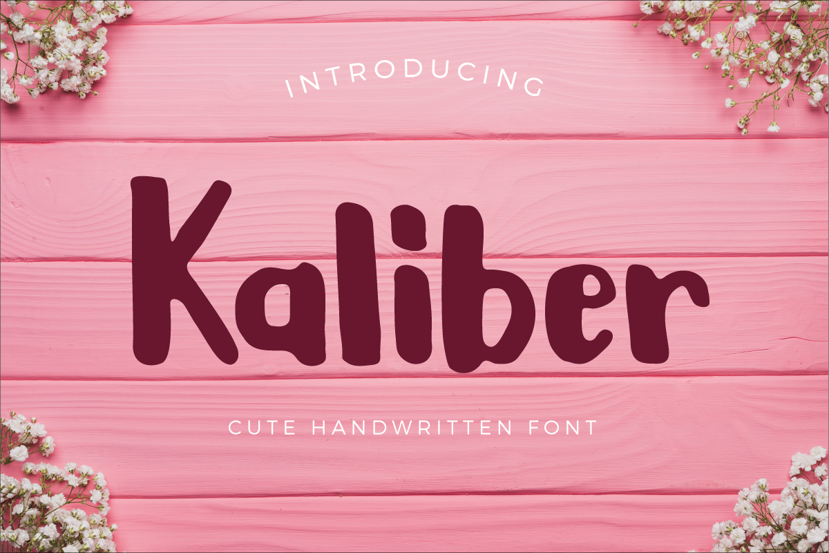 Print on Demand: Kaliber Script & Handwritten Font By Debut Studio