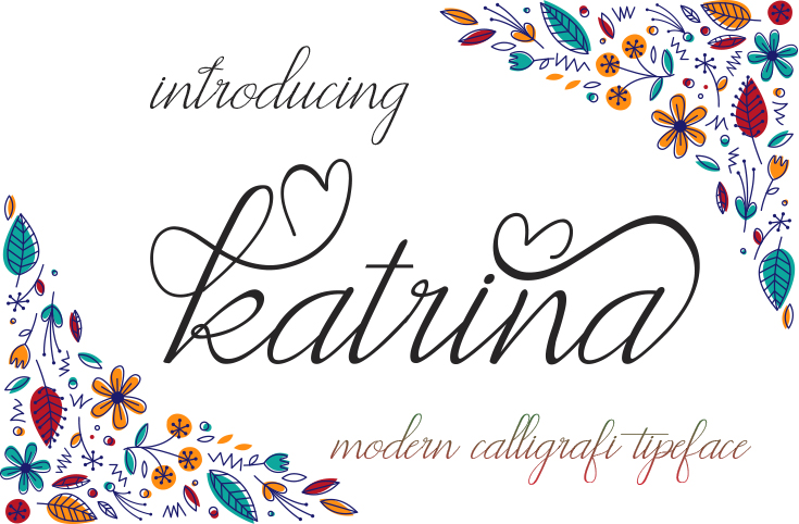 Print on Demand: Katrina Script & Handwritten Font By maydhen studio
