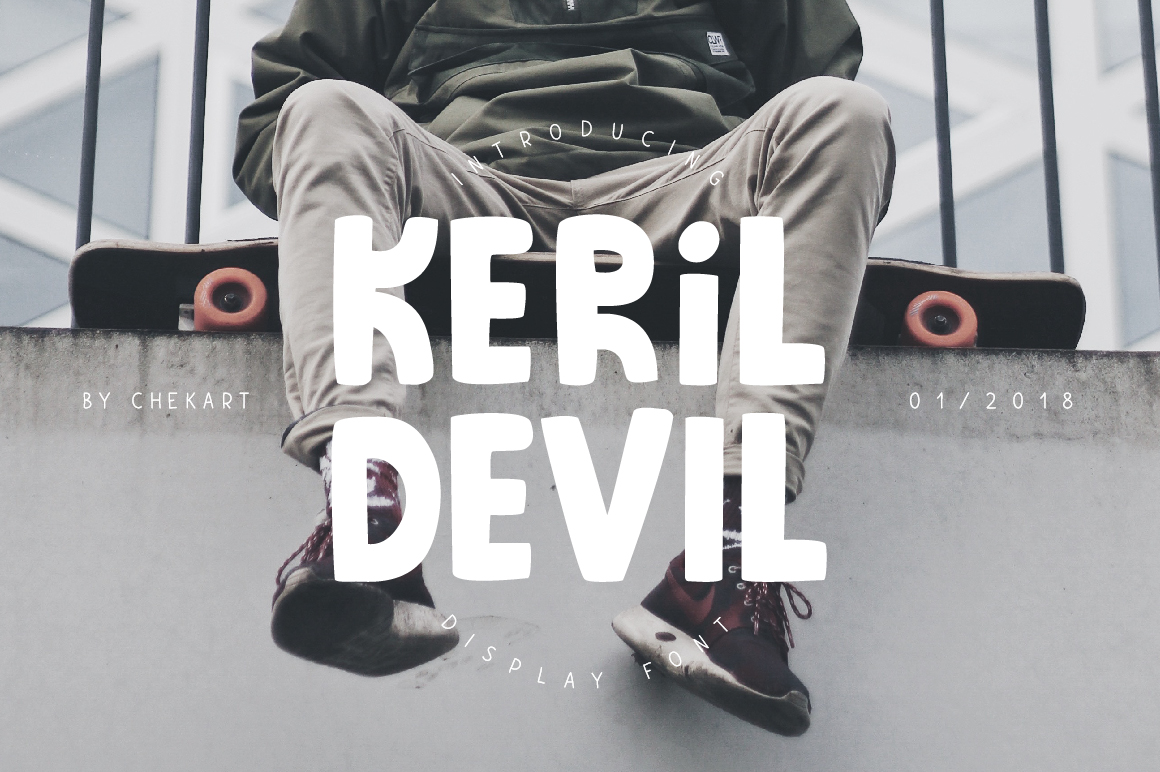 Print on Demand: Keril Devil Display Font By ChekArt
