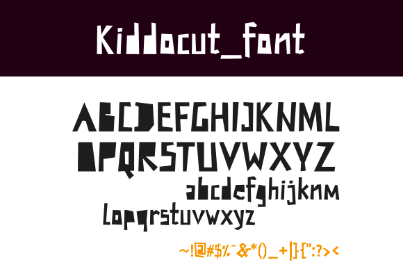 Print on Demand: Kiddocut Decorative Font By matijablagojevic