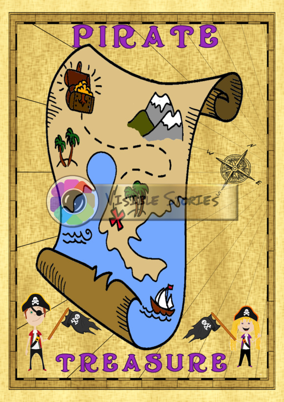 Kids 39 pirate maps set 1b graphic by visible stories for Kids pirate fabric