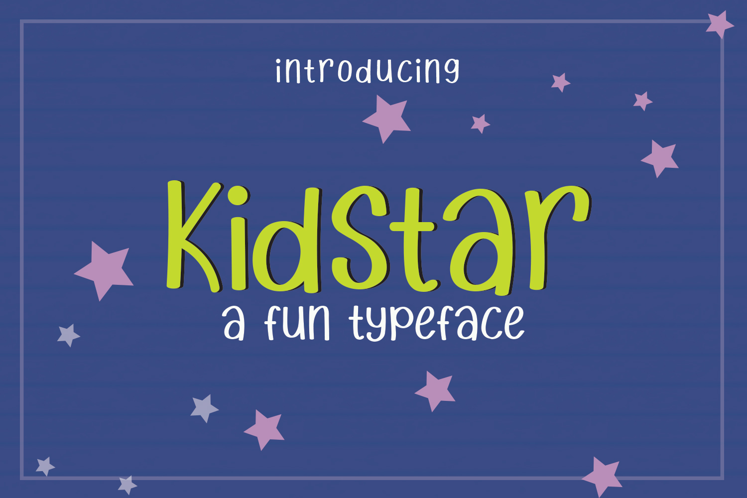 Print on Demand: Kidstar Sans Serif Font By josgandos