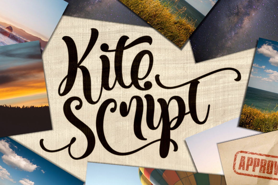 Print on Demand: Kite Script Script & Handwritten Font By Fontdation