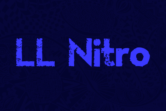 Print on Demand: LL Nitro Display Font By Markus Schroppel