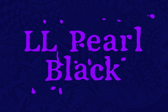 Print on Demand: LL Pearl Black Serif Font By Markus Schroppel