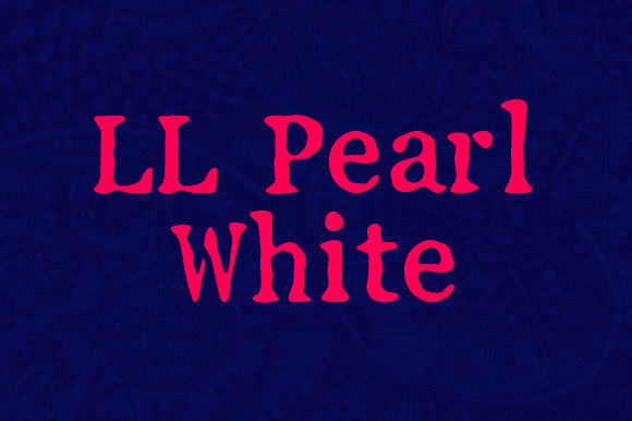 Print on Demand: LL Pearl White Serif Font By Markus Schroppel