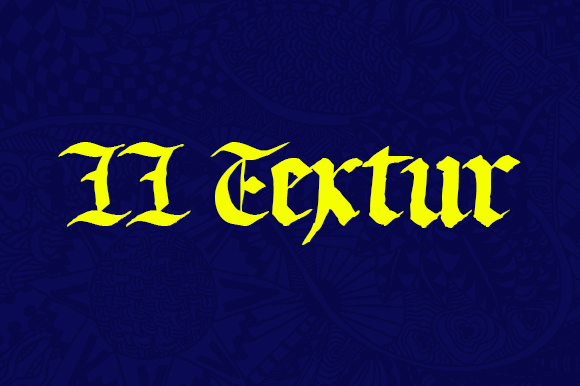 Print on Demand: LL Textur Blackletter Font By Markus Schroppel
