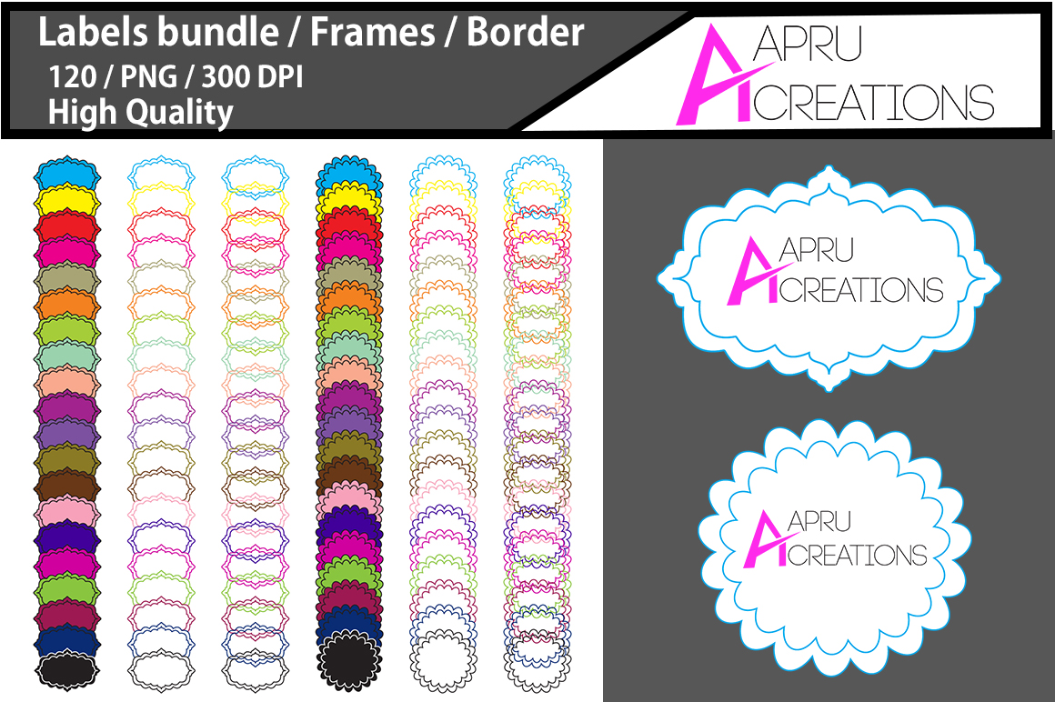 Label Frames Clipart Graphic By aparnastjp