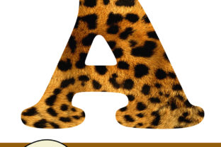 Print on Demand: Leopard Digital Text Graphic Crafts By Arcs Multidesigns