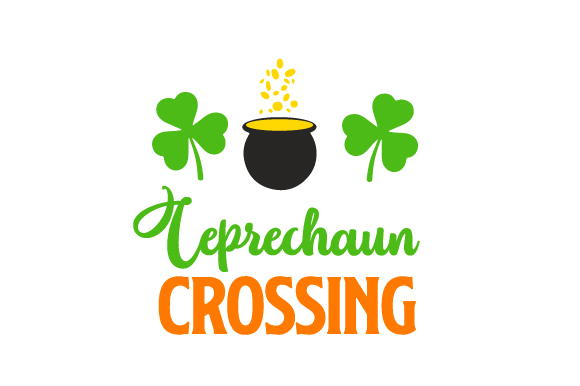 Leprechaun Crossing Saint Patrick's Day Craft Cut File By Creative Fabrica Crafts - Image 1