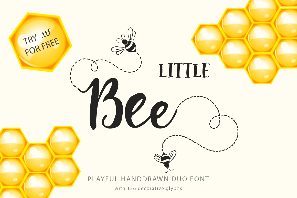Print on Demand: Little Bee Duo Script & Handwritten Font By Red Ink