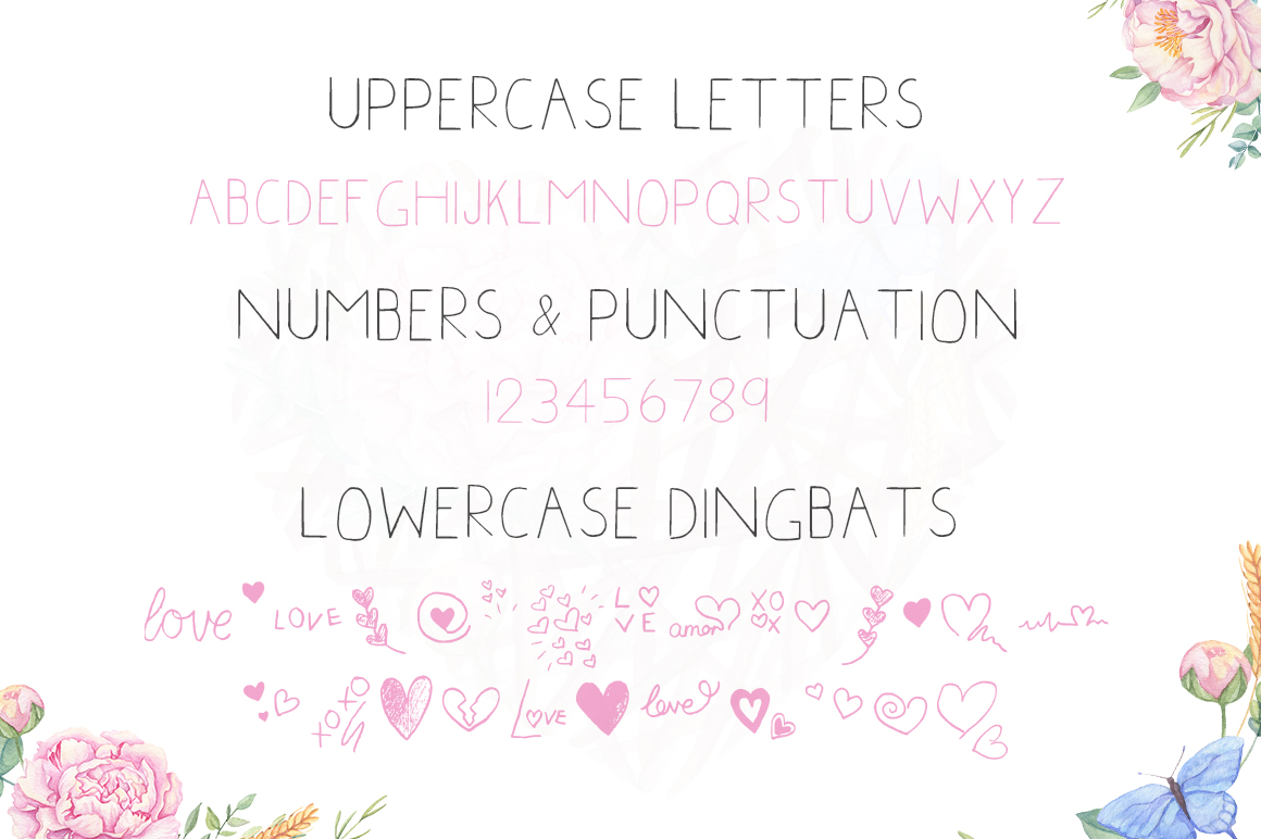 Print on Demand: Little Hearts Display Font By Salt & Pepper Designs - Image 4