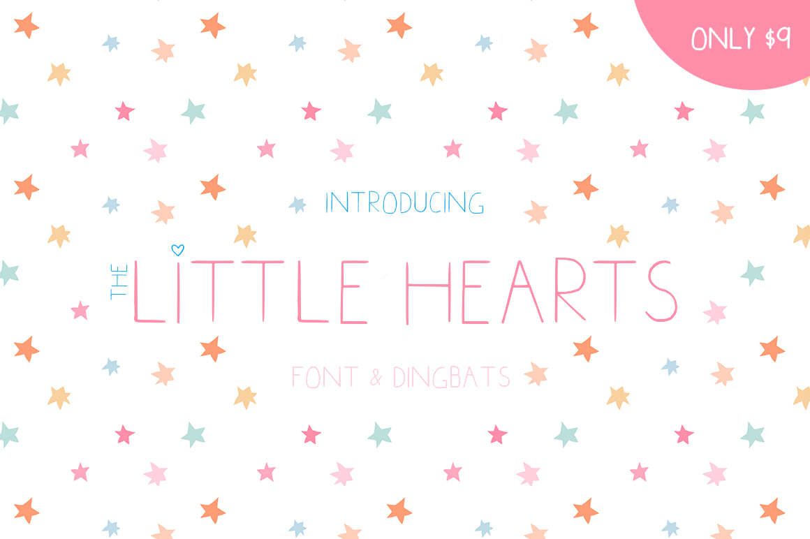Little Hearts Display Font By Salt & Pepper Designs