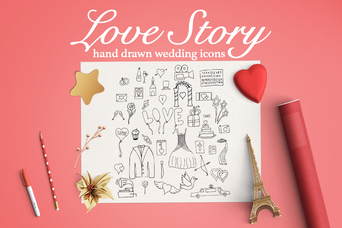 Love Story Illustrations Graphic By InkandBrush
