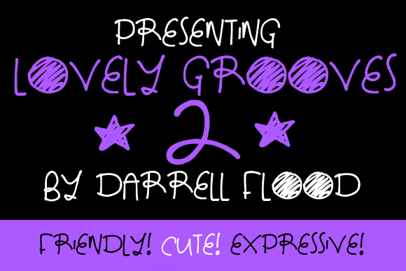 Print on Demand: Lovely Grooves 2 Display Font By Dadiomouse
