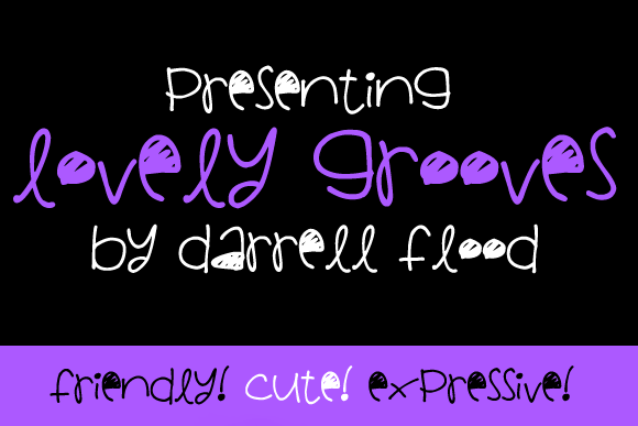 Print on Demand: Lovely Grooves Display Font By Dadiomouse