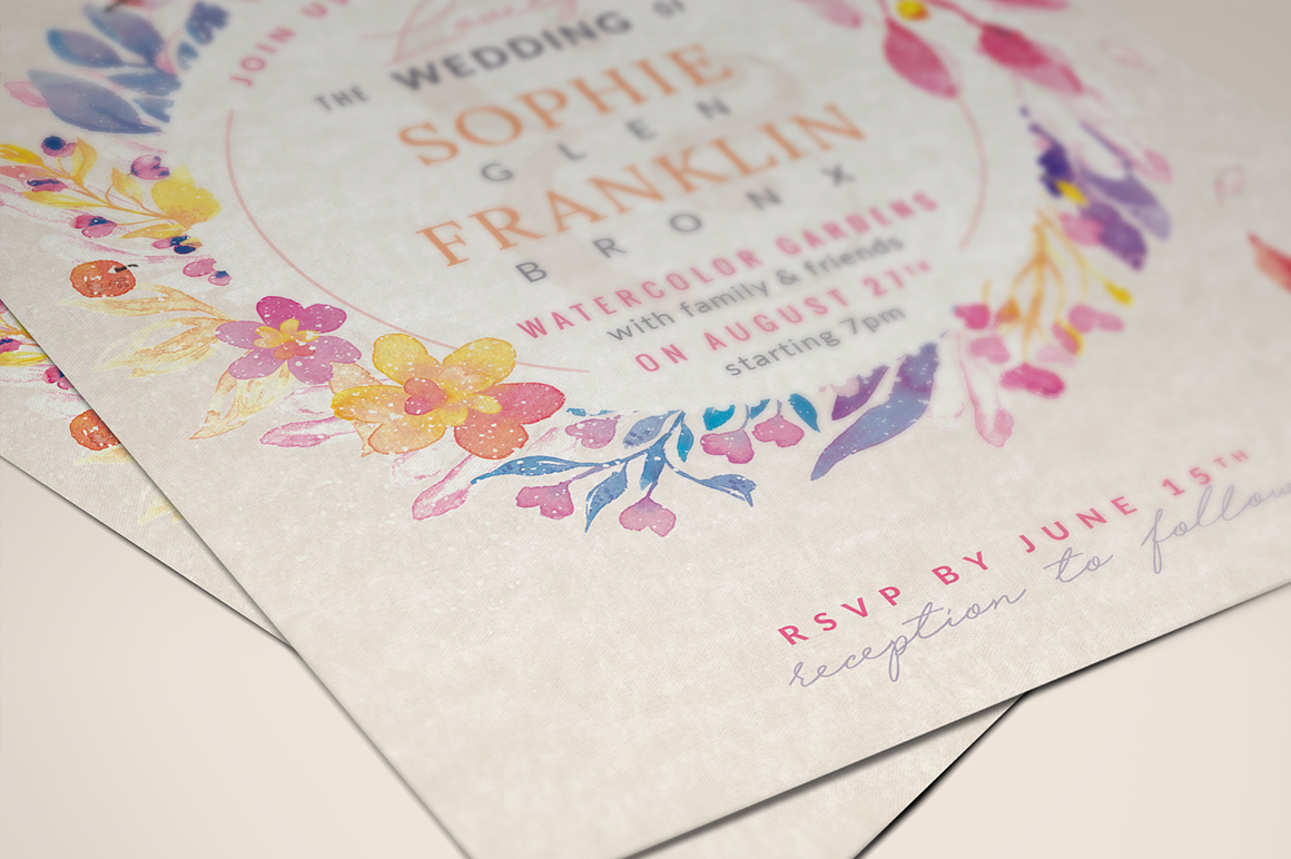 Lovely Violet-Blush Invite I