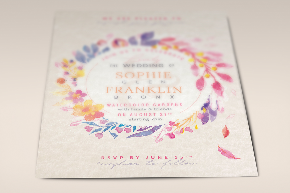 Lovely Violet-Blush Invite I Graphic Print Templates By lavie1blonde - Image 5