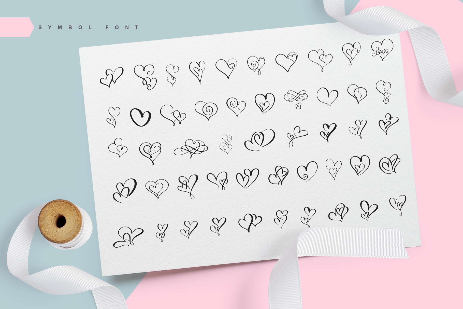 Print on Demand: Lovingly Dingbats Font By Happy Letters - Image 2