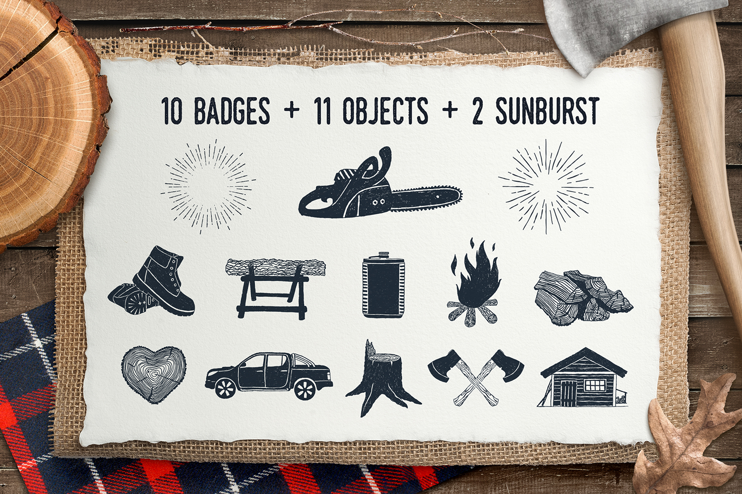 Print on Demand: Lumberjack - Vintage Badges Graphic Illustrations By Cosmic Store - Image 3
