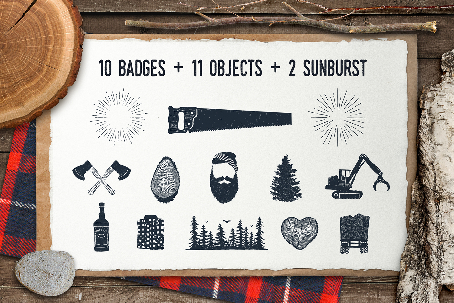 Lumberjack - Vintage Badges Graphic By Cosmic Store Image 3