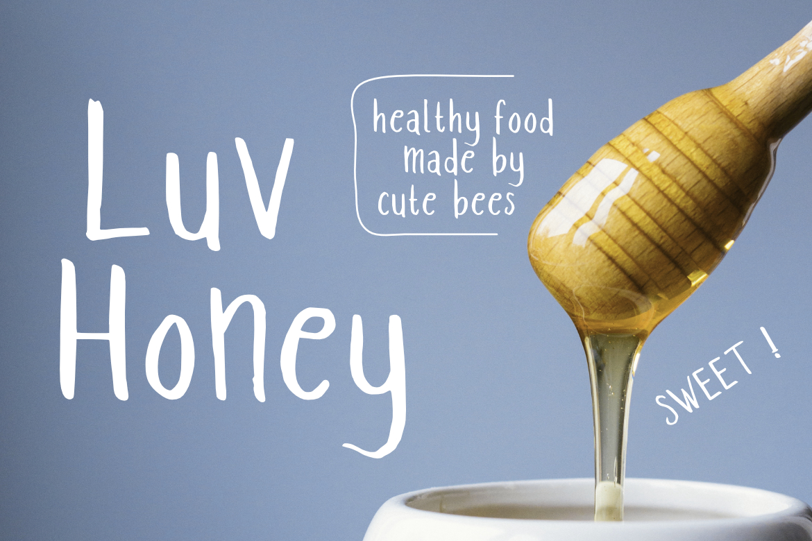 Print on Demand: Luv Honey Sans Serif Font By LebahStudio
