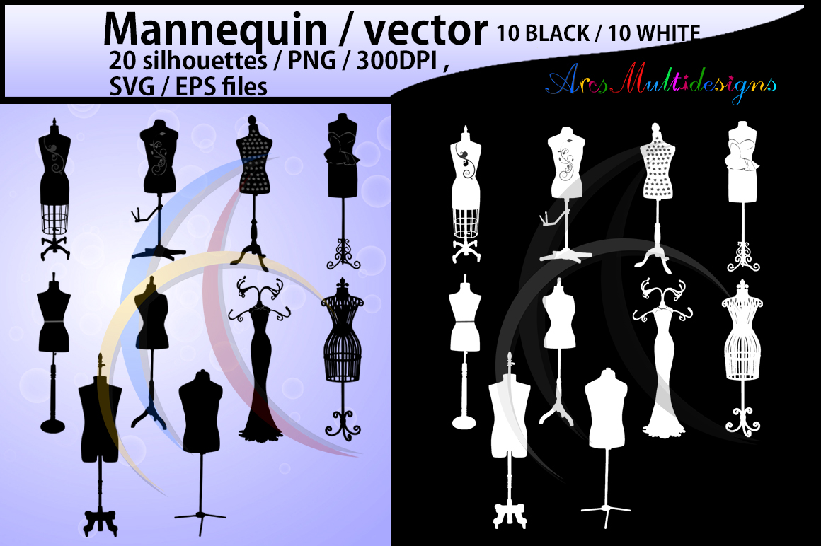 Mannequin SVG Graphic By Arcs Multidesigns