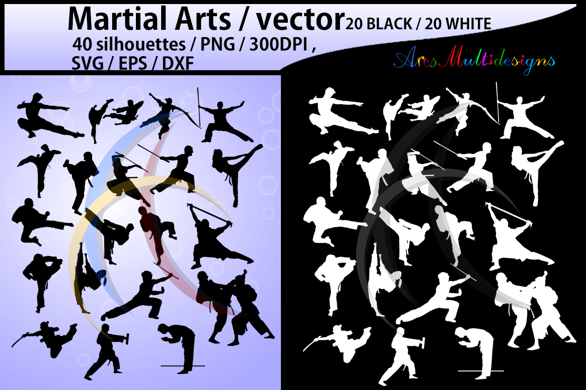 Martial Arts SVG Graphic By Arcs Multidesigns
