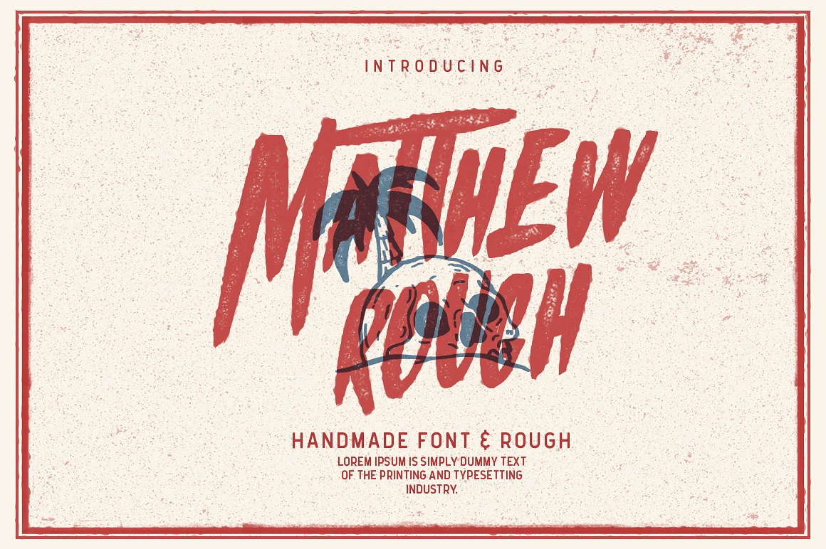 Print on Demand: Matthew Rough Display Font By bloomxxvi