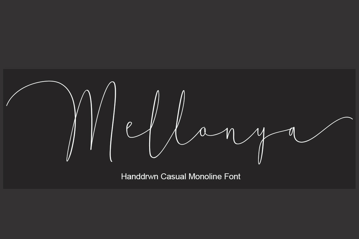 Print on Demand: Mellonya Script & Handwritten Font By StudioRz