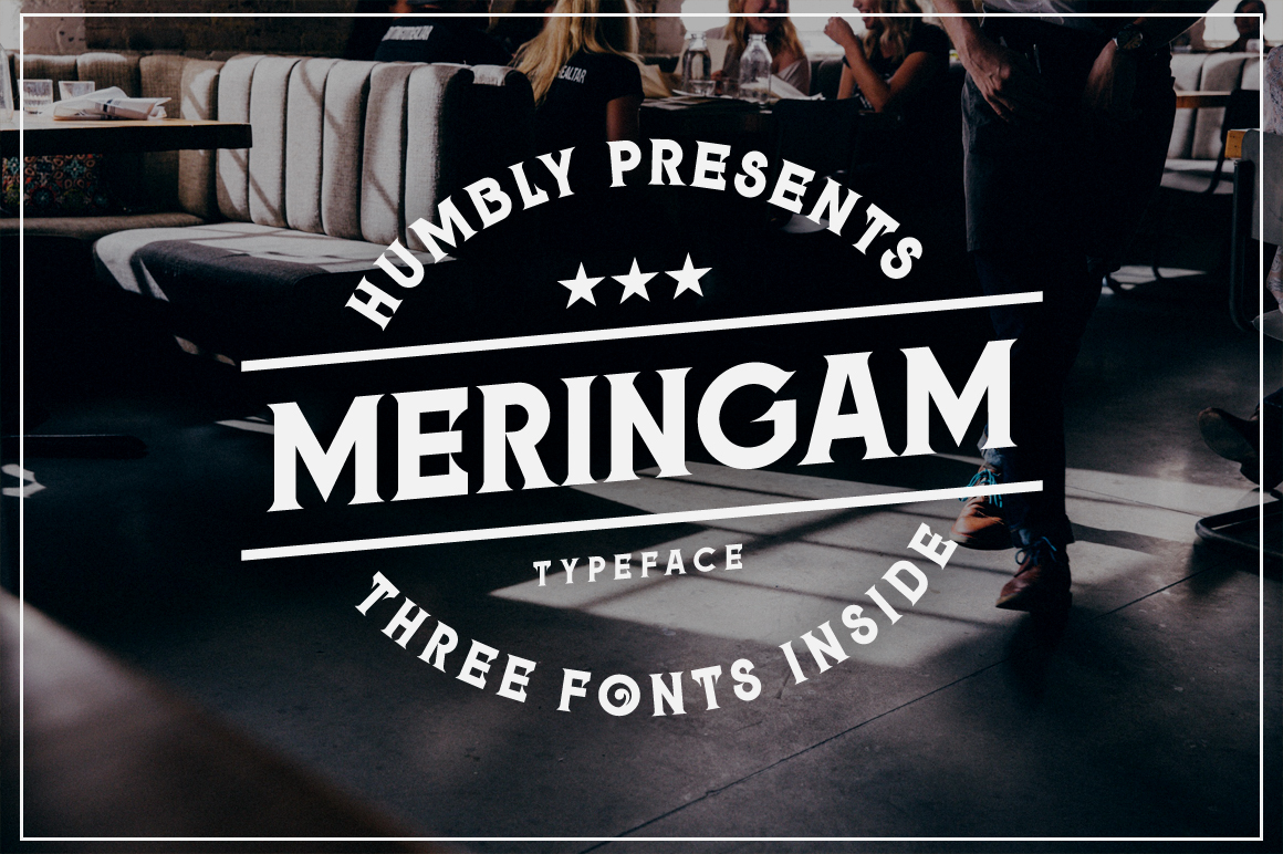 Print on Demand: Meringam Serif Schriftarten von Arterfak Project