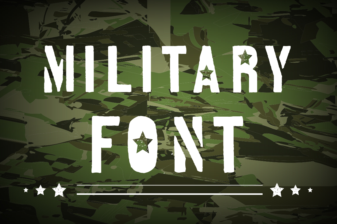Military Font Graphic Objects By alisared87