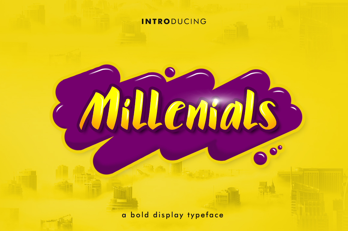 Print on Demand: Millenials Display Font By MatFine