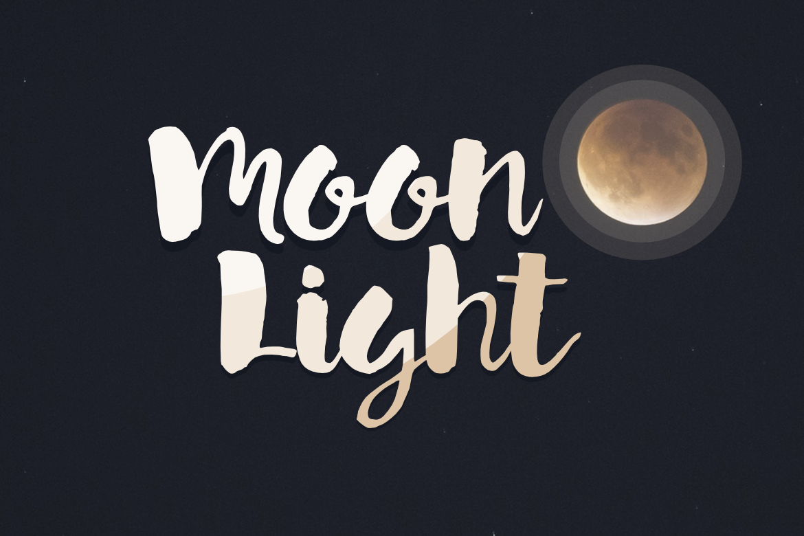 Print on Demand: Moon Light Display Font By LebahStudio