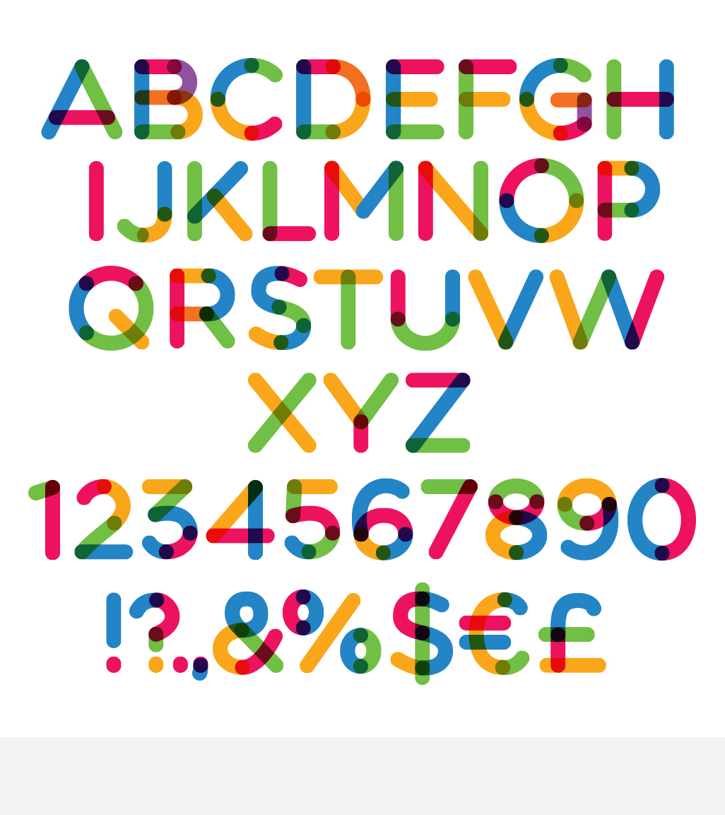 Multicolore Vector Typeface Graphic By neogrey Image 7