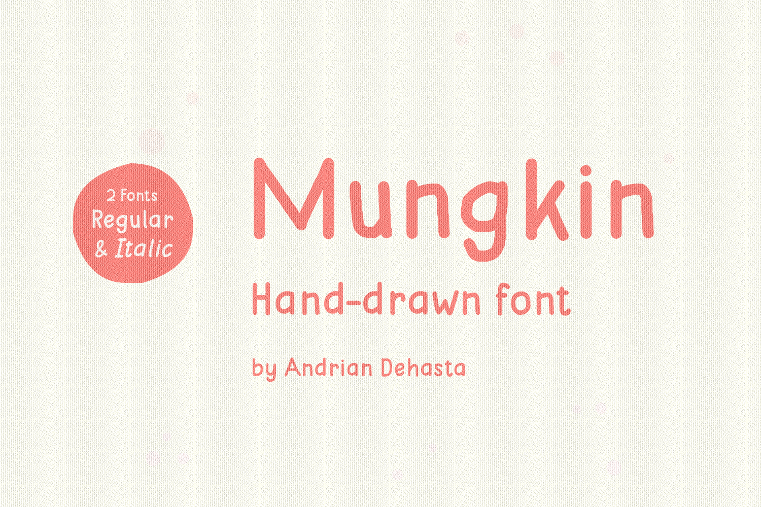 Print on Demand: Mungkin Script & Handwritten Font By Andrian Dehasta