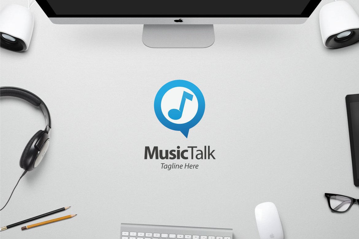 Music Talk Logo Template Graphic Logos By yip87